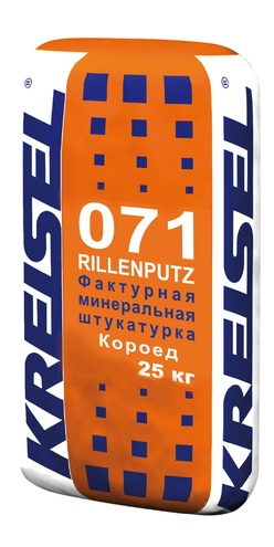 Фактурная штукатурка короед 2,5 мм ROLLENPUTZ DR 071 Kreisel